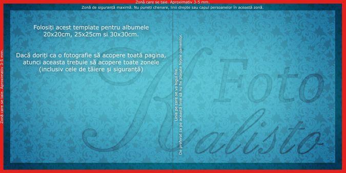 Model Template pentru albume 20x20, 25x25, 30x30cm.