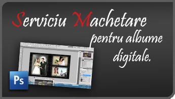 Serviciu Machetare pentru albume nunta digitale